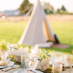 boho chic bachelorette party with DIY teepee