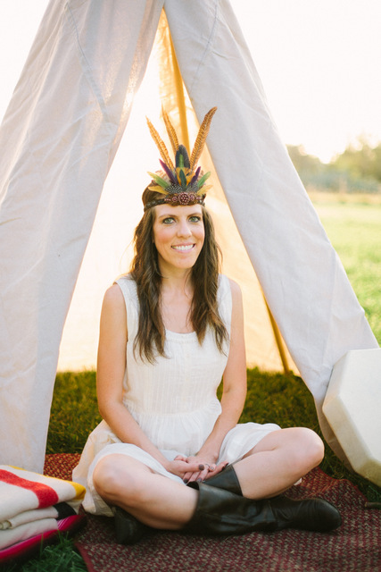 wilderness bachelorette party with DIY teepee