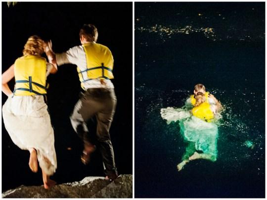 """taking the plunge"" after the wedding | handmade North Carolina wedding | Nathan Abplanalp Photography"
