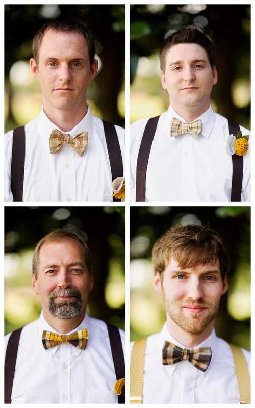 groom &amp; groomsmen in bow ties | handmade North Carolina wedding | Nathan Abplanalp Photography