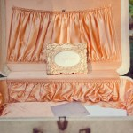 romantic peach malibu wedding