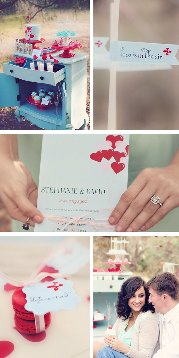 Valentine&#039;s Day inspired Engagement | Sky Stone Photography &amp; Twinkle Twinkle Little Party