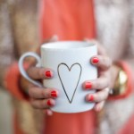 celebrating oh lovely day | gilded heart mug | photo by amy stone