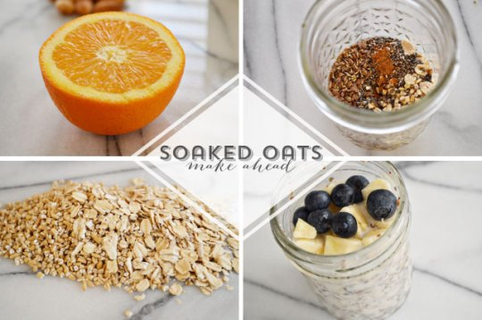 soaked oats recipe | lovely ever after