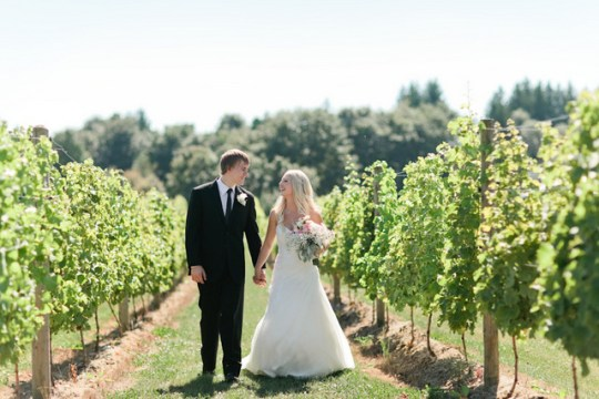 girly pink vineyard wedding from Jamie Delaine