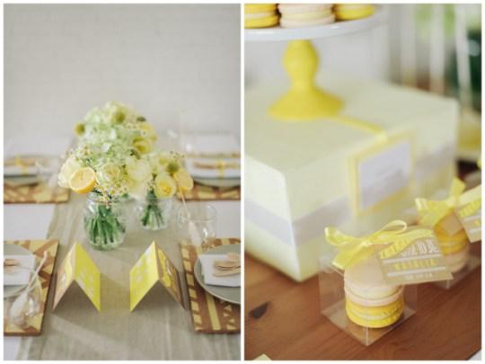 Lemon Yellow Bridal Shower Inspiration   Simply Peachy & Isa Photography