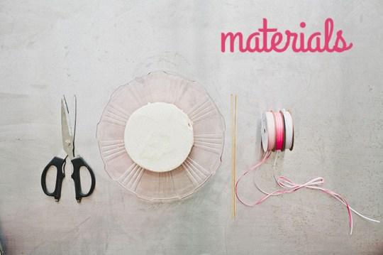 DIY cake garland materials