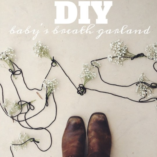 DIY baby's breath garland