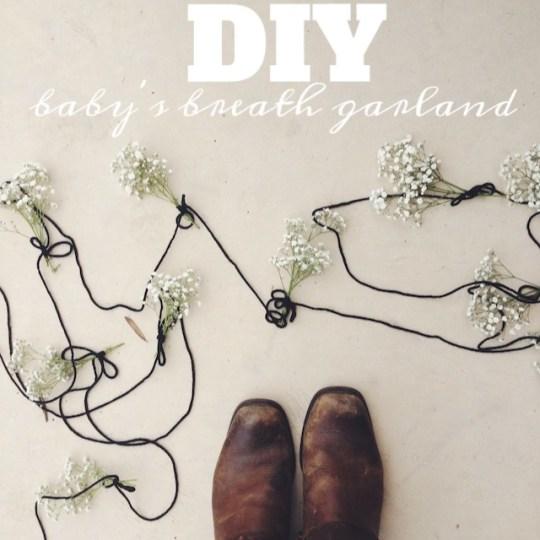 DIY baby's breath garland