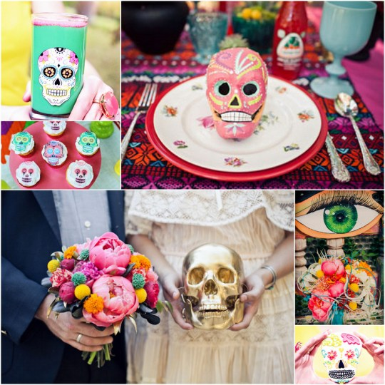 dia de los muertos wedding inspiration | oh lovely day