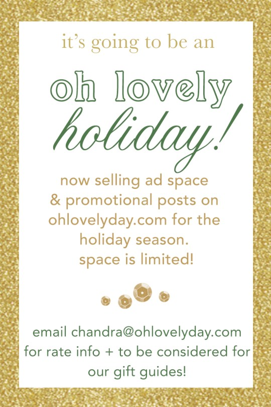 holiday ads on oh lovely day