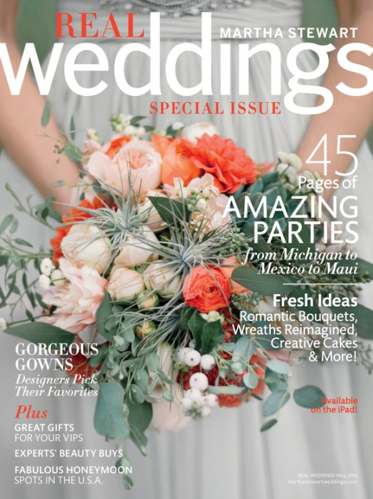 Martha Stewart Weddings Fall Real Weddings Issue Exclusive Sneak Peek on Oh Lovely Day