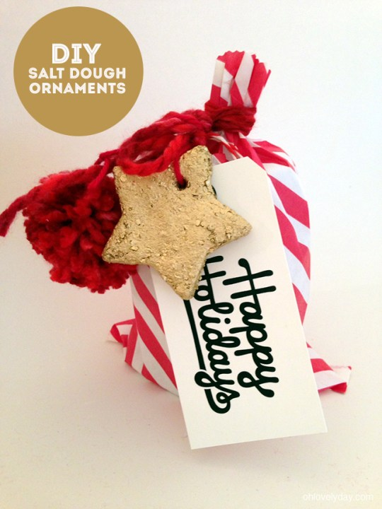 salt dough ornaments | Oh Lovely Day