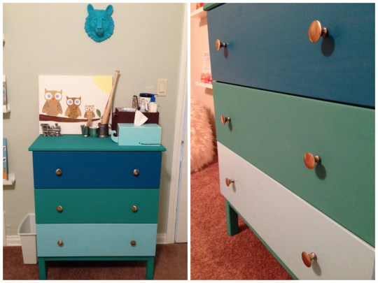 Colorblock dresser ikea hack   Oh Lovely Day
