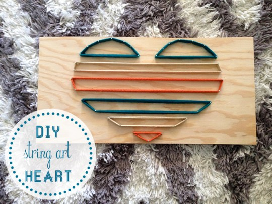DIY string art heart