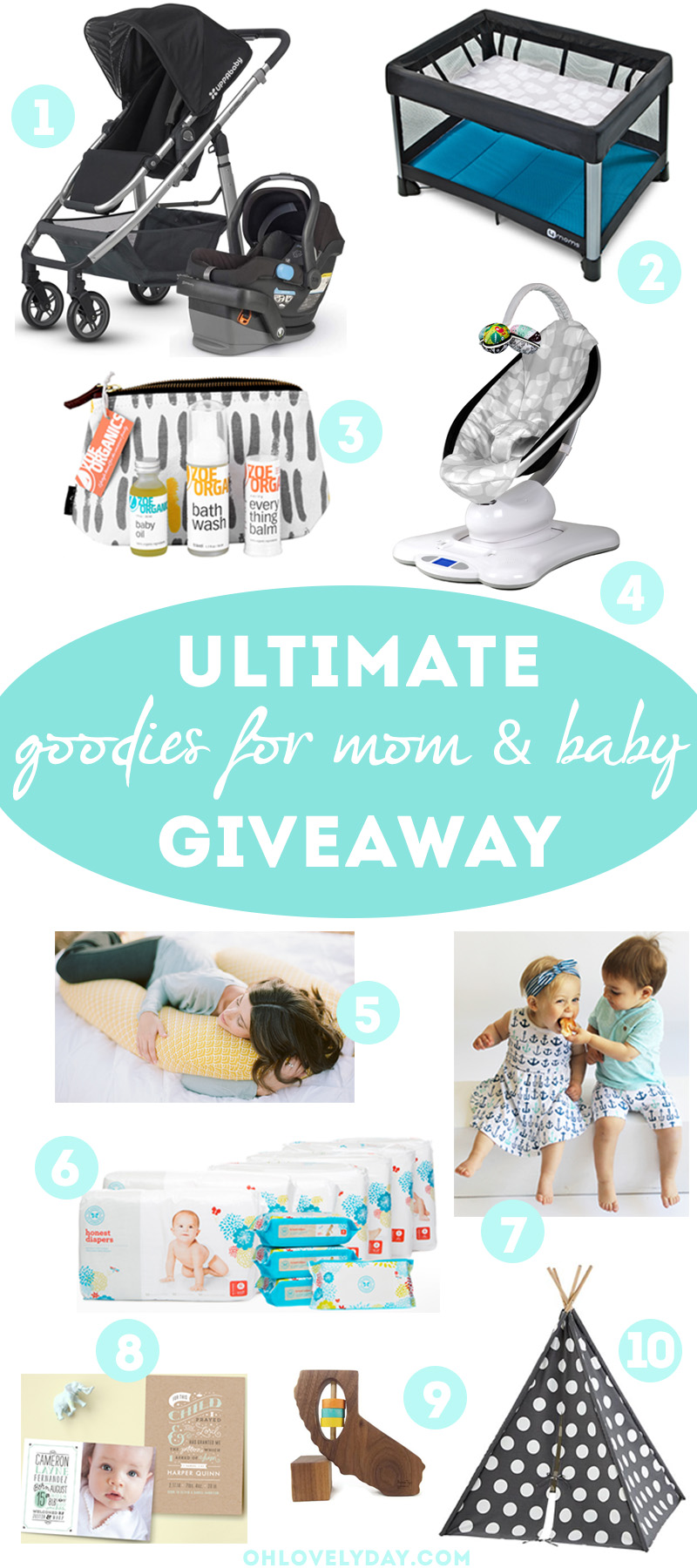 The Ultimate Goodies Giveaway for Mom & Baby | Oh Lovely Day