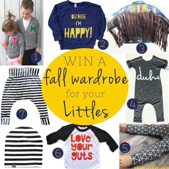 Fall Wardrobe for Littles Giveaway | Oh Lovely Day
