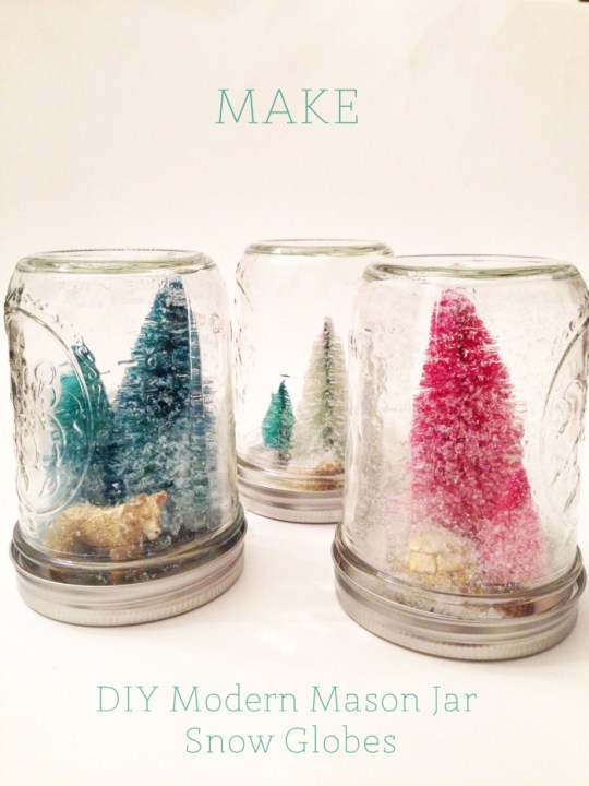 DIYmodern mason jar snow globes   Oh Lovely Day