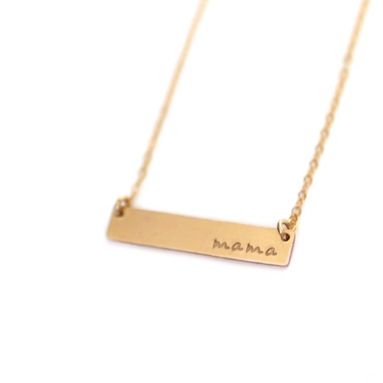 Oh Lovely Day Mother's Day Gift Guide + Giveaway: Made By Mary WIth Love Bar Necklace