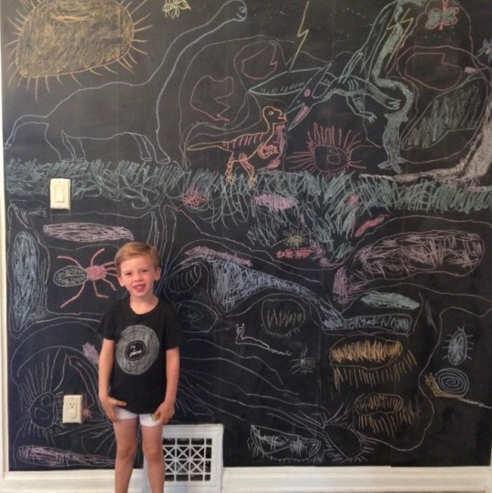 DIY chalkboard wall | Oh Lovely Day