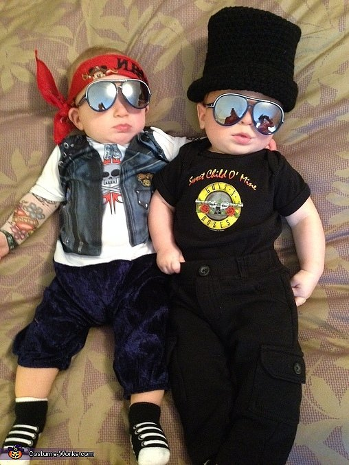 Favorite Halloween Costume Ideas for Pairs: Axl & Slash from Guns N' Roses | Oh Lovely Day