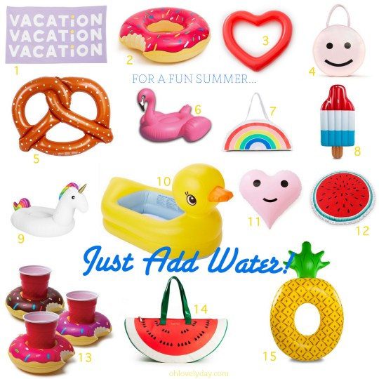 Inflatables, coolers, towels & more to make your summer cute & fun! | ohlovelyday.com