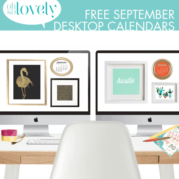 FREEBIES  //  SEPTEMBER DESKTOP CALENDARS