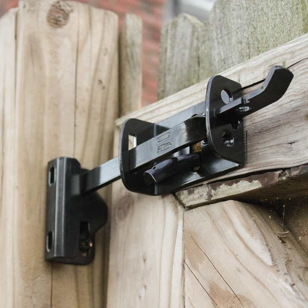 DIY national hardware gate latch installation tutorial DIY GATE HARDWARE TUTORIAL GIVEAWAY