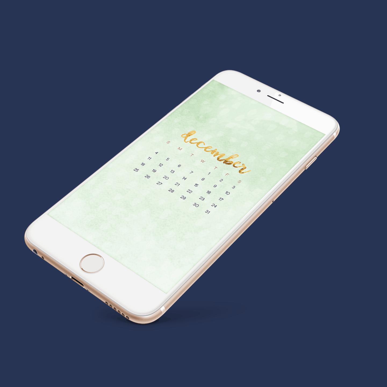 Calendar Wallpaper Phone : Free december desktop and smartphone wallpaper