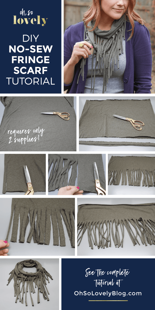 easy no-sew fringe scarf