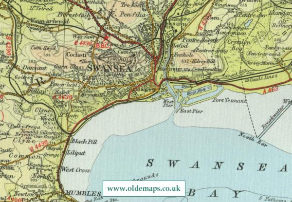 map swansea
