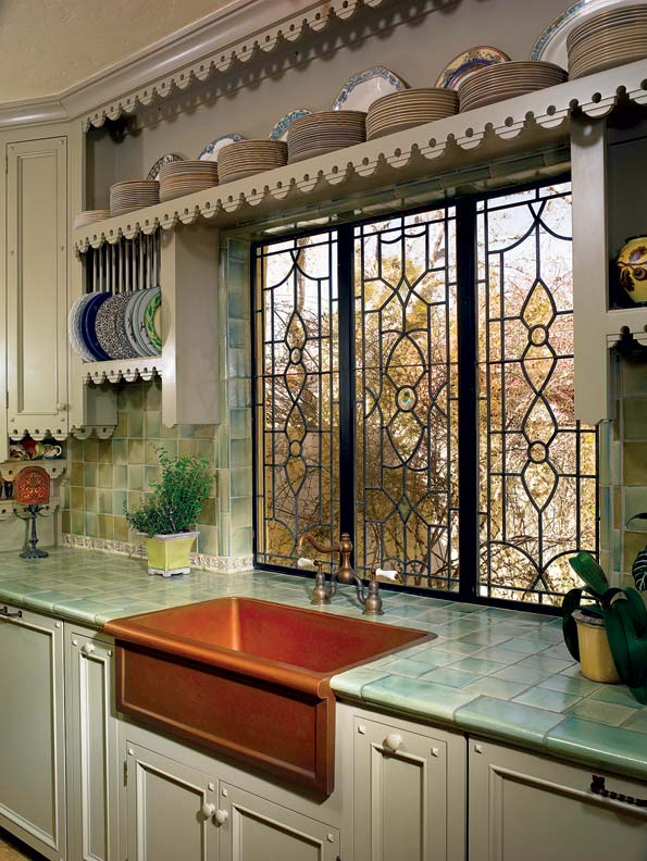 spanish kitchen makeover kitchen cabinets in spanish Like many of the kitchen s decorative elements the copper sink and faucet were eBay finds