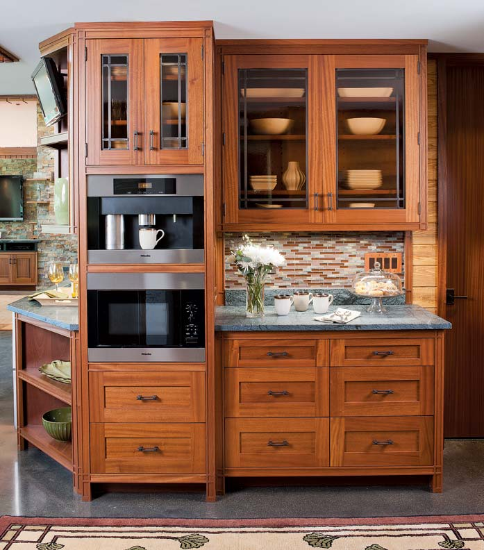 Engrossing Crown Point Cabinetry Reviews Crown Point Cabinetry Cost Cabinetry This Up New York Kitchen Was Inspired By Frank Prairie School A Frank Lloyd Kitchen Restoration Design houzz 01 Crown Point Cabinetry
