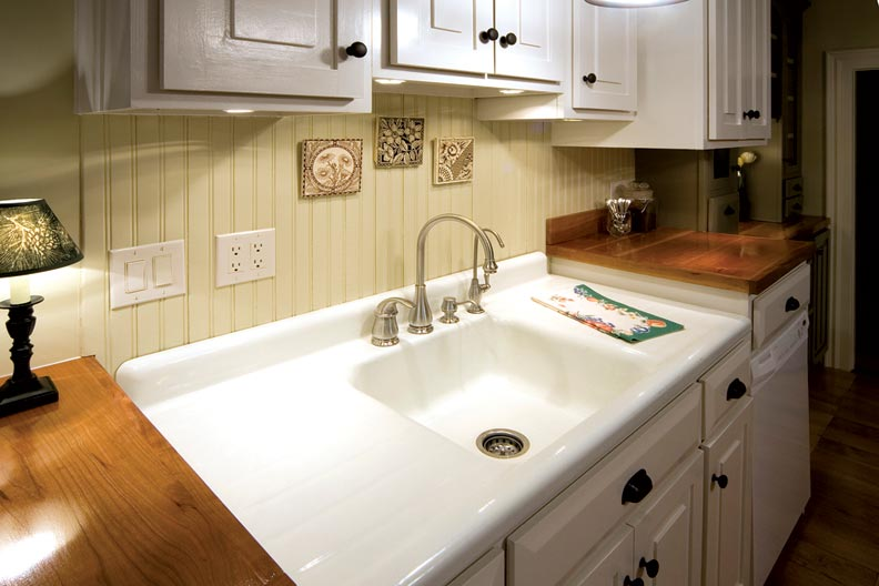 adventures in installing a kitchen sink refinish kitchen sink A double drainboard and a deep basin were Laura s main priorities along with a sink