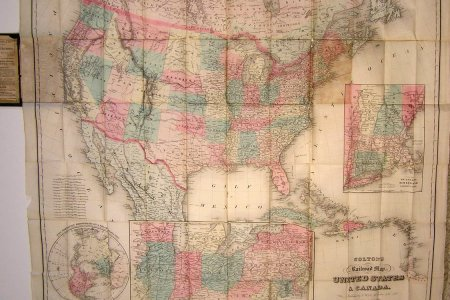 colton's railroad map of the united states & caa 1870