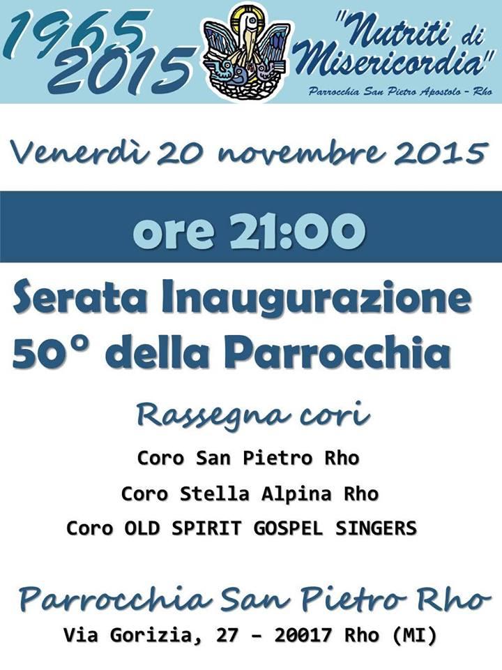 50° Anniversario della Parrocchia San Pietro di Rho