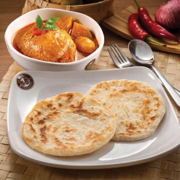 Paratha with Curry Chicken(Rp45)
