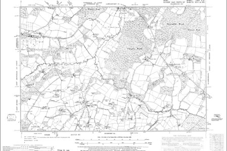 old map of bewl bridge, greenwoods and stonecrouch in 1947