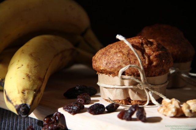 muffins de plátanos