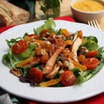 Pechuga de pavo en salsa de albaricoques secos