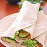 Chicken Cucumber Wraps With a Creamy Avocado Spread