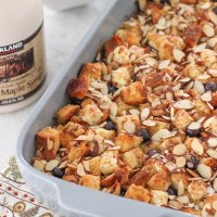 Blueberry, Cream Cheese and Almond French Toast Casserole