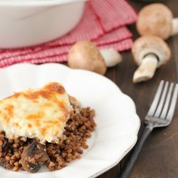 Chicken, Mushroom and Buckwheat Casserole