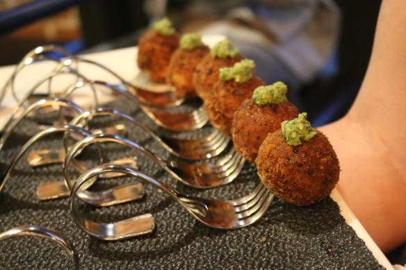 The Flying Duck Hotel - Semi dried tomato croquettes w broccoli pesto