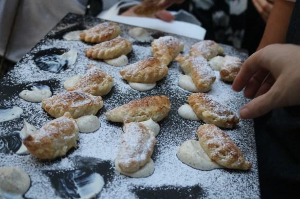The Flying Duck Hotel - Chicken pastries w creamy mushroom sauce
