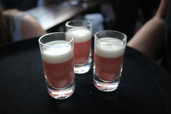 The Flying Duck Hotel - Strawberry gazpacho & parmesan foam
