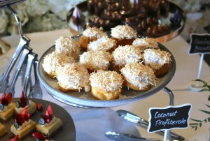 Woolshed high tea - Coconut profiteroles