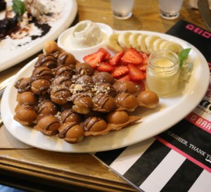 Sweetie and Moustache - Nutella Hong Kong waffles
