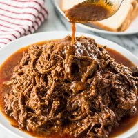 Slow-Cooked Pulled Brisket