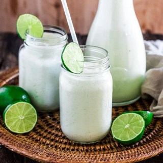 Brazilian Lemonade | www.oliviascuisine.com | The creamiest and sweetest lemonade (or limeade) you have ever tried. The secret? Sweet condensed milk. Sweet just like Brazilians like it!